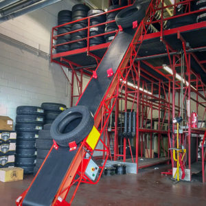 Floor to Floor Tire Conveyor