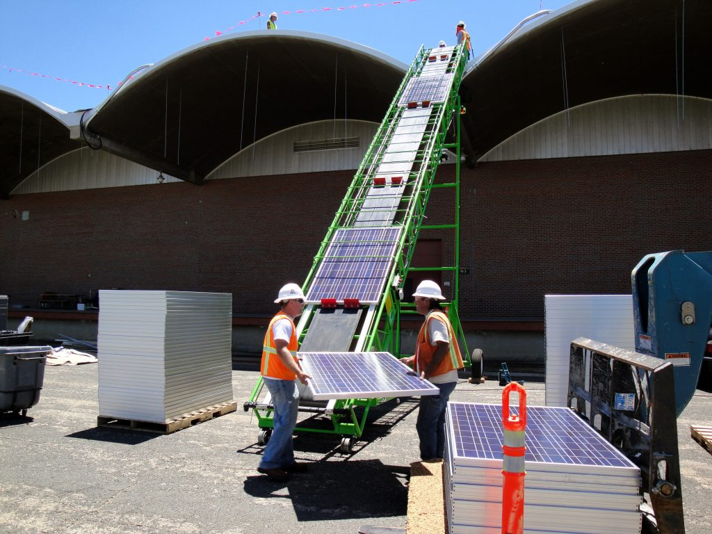 Solar Panel Conveyor